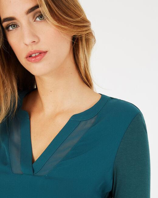 Tee-shirt vert forêt manches 3/4 Bianca (2) - 1-2-3