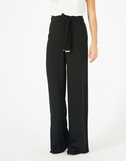 Voyou tailored black trousers with belt PhotoZ | 1-2-3