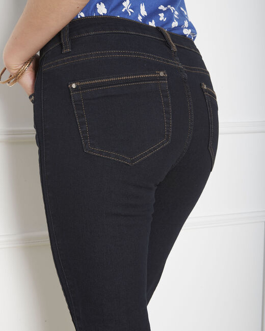 Opera slim-cut black jeans with zips at the waist (2) - 1-2-3