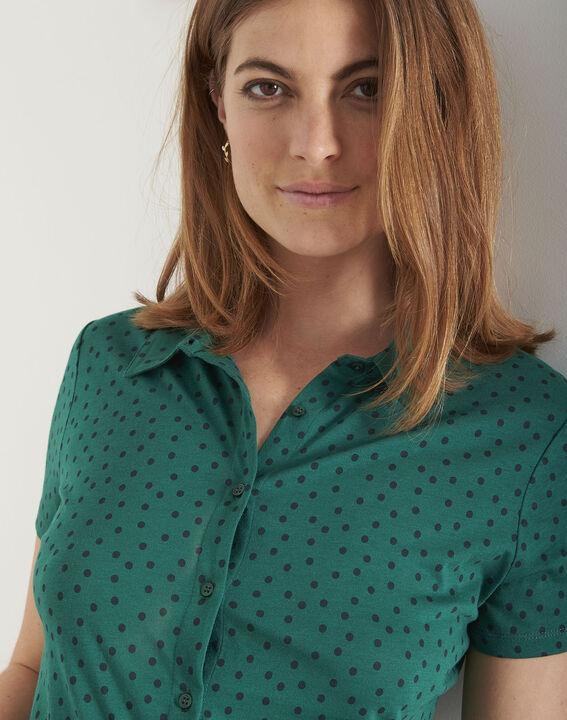 Tee-shirt vert imprimé pois Patty (3) - Maison 123