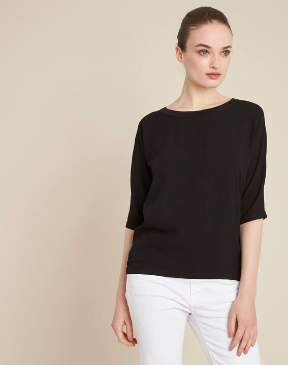 Guillem black blouse with bow at the back (3) - 1-2-3