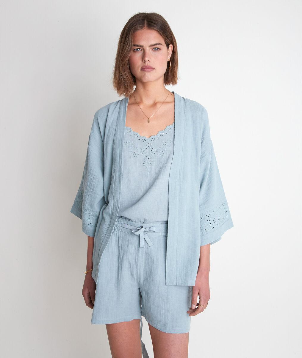 Kimono en coton céladon Tibo PhotoZ | 1-2-3