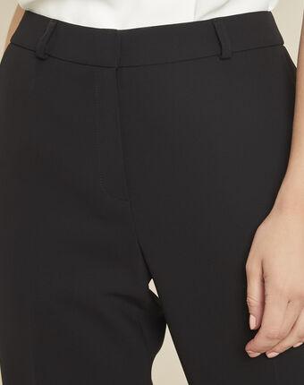 Hermane wide-leg black 7/8 length trousers black.