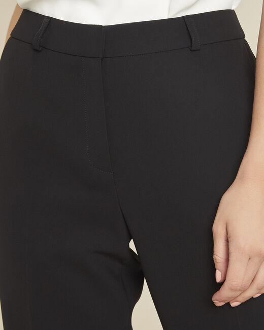 Hermane wide-leg black 7/8 length trousers (1) - 1-2-3