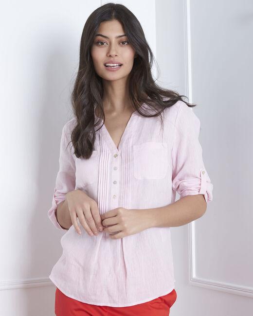 Roma pink linen shirt (1) - 1-2-3