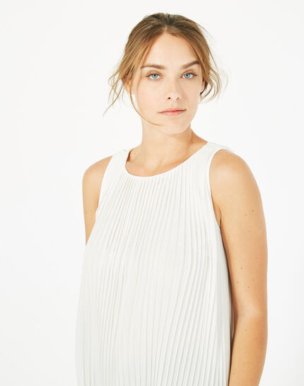 Erica pleated white top (4) - 1-2-3