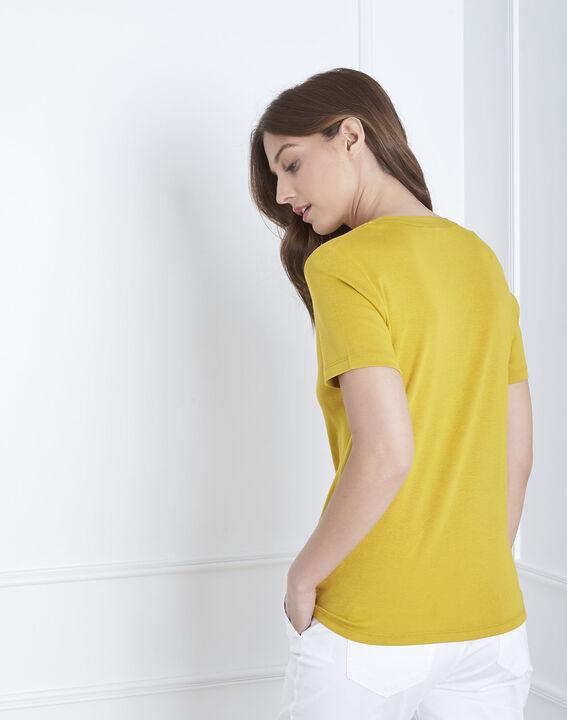 Tee-shirt anis encolure fantaisie Priscille (4) - Maison 123