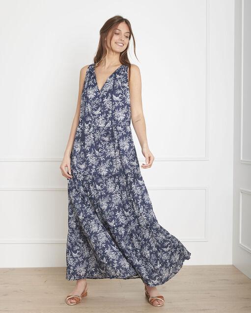 6cc5f98fb9e Robe bleue imprimé champetre longue Luisa (1) - Maison 123