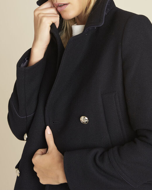 Marineblauwe jas met cabaneffect Elliot (1) - 37653