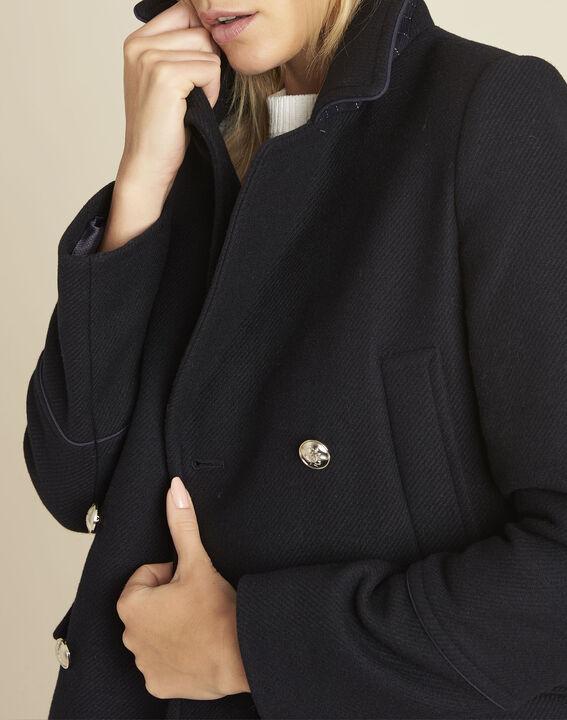 Elliot navy blue parka-style coat (2) - 1-2-3