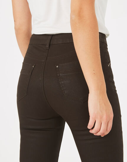 Oliver 7/8th length chocolate coated jeans (3) - 1-2-3