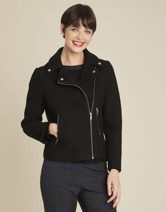 Manteau noir en laine esprit perfecto Edmee PhotoZ | 1-2-3
