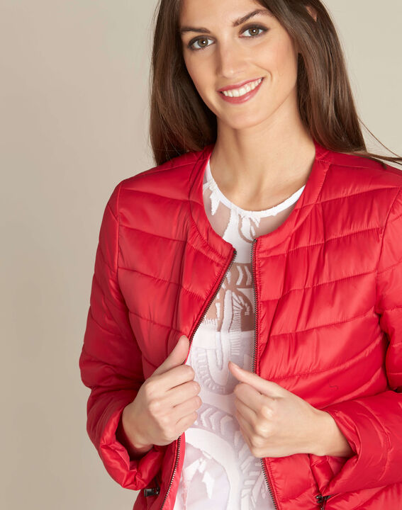 Yvana fine red quilted jacket PhotoZ | 1-2-3