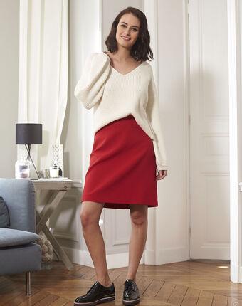 Ecru oversize trui van gemengd wol blanche creme.