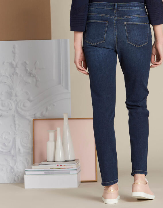 Dunkelblaue Slim-Fit-Jeans Vendome (4) - 1-2-3