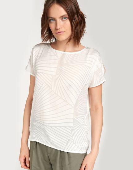 Tee-shirt écru imprimé géométrique Nanako (1) - 1-2-3