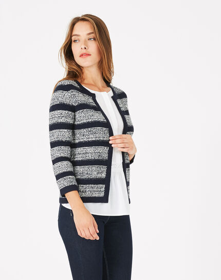 Paparazzi navy blue knit jacket PhotoZ | 1-2-3