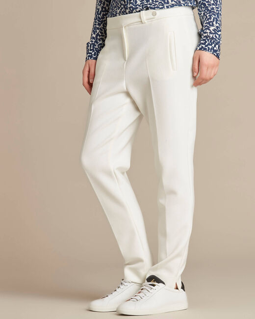 Pantalon de tailleur ecru slim Lara (1) - 1-2-3