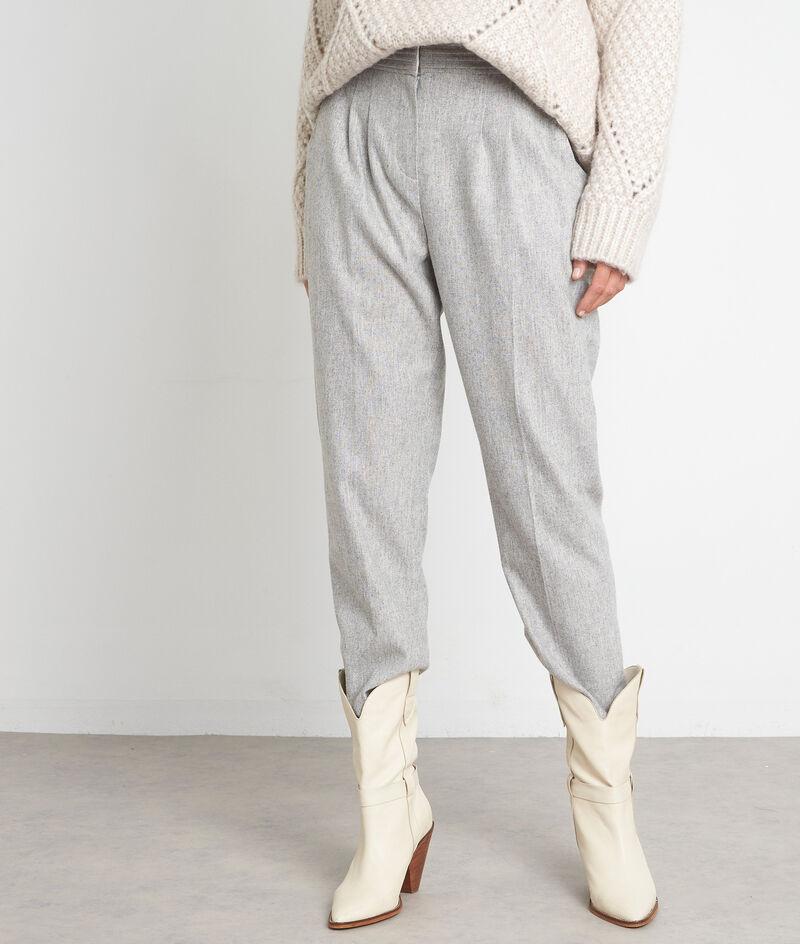 Pantalon de tailleur taille haute gris pâle Debby PhotoZ | 1-2-3