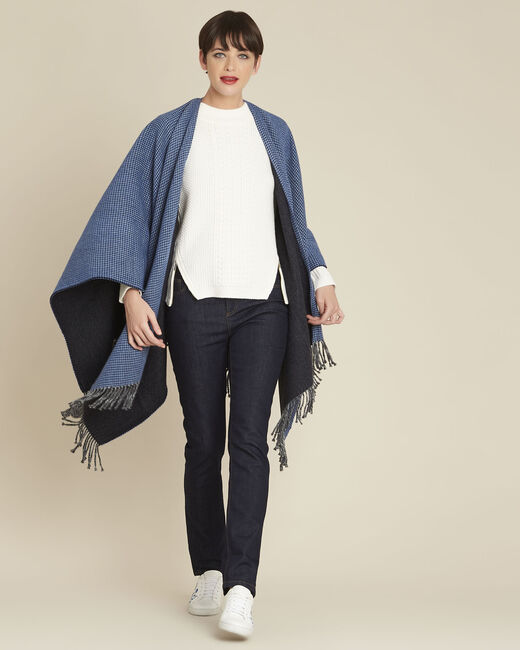 Pull blanc col montant laine mélangée Brindille (1) - 1-2-3