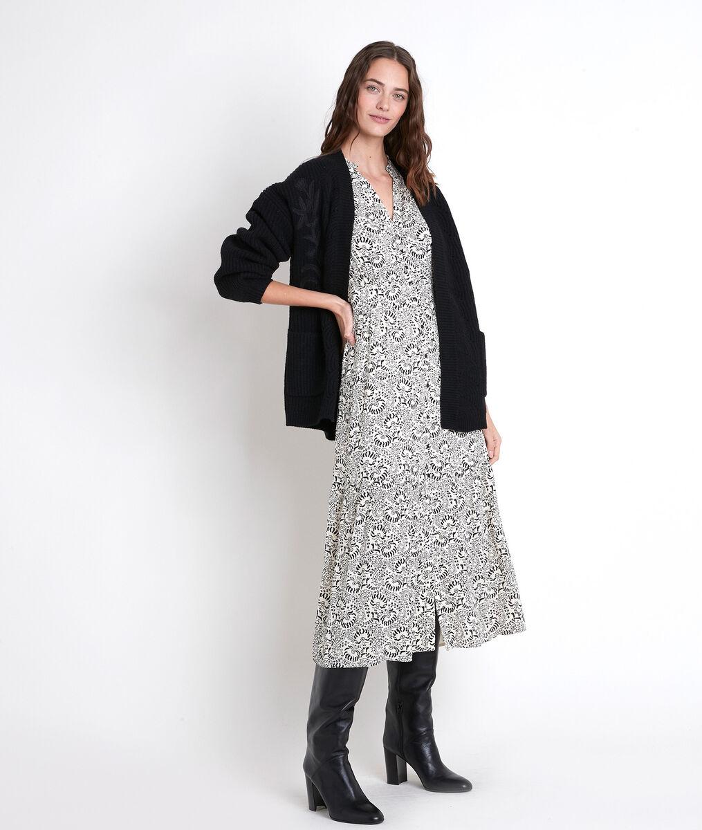 Gilet noir en laine mélangée Alexy PhotoZ | 1-2-3