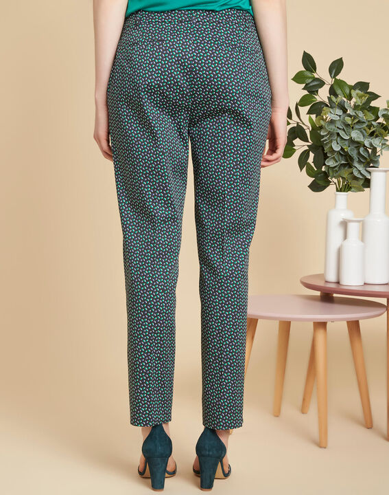 Rubis navy blue trousers with print (4) - 1-2-3