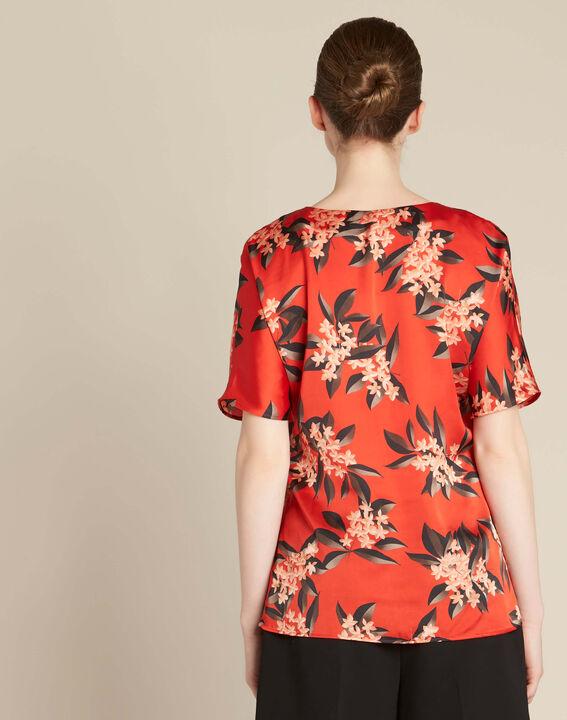 Blouse rouge imprimé fleuri Romy (4) - 1-2-3