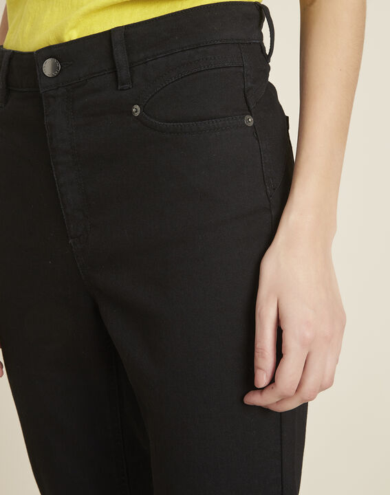 Honore black 7/8 length fitted jeans (3) - 1-2-3