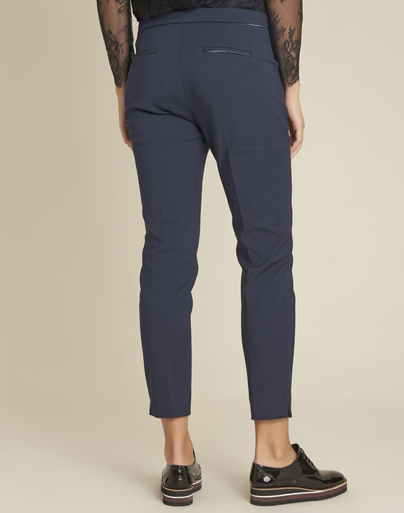 Holly navy slim-fit compact trousers (4) - 1-2-3