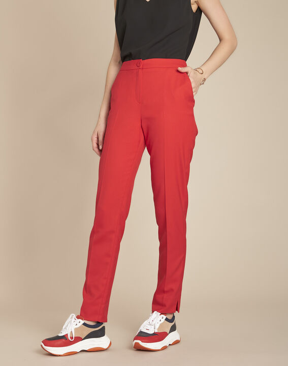 Pantalon rouge cigarette Emile PhotoZ | 1-2-3