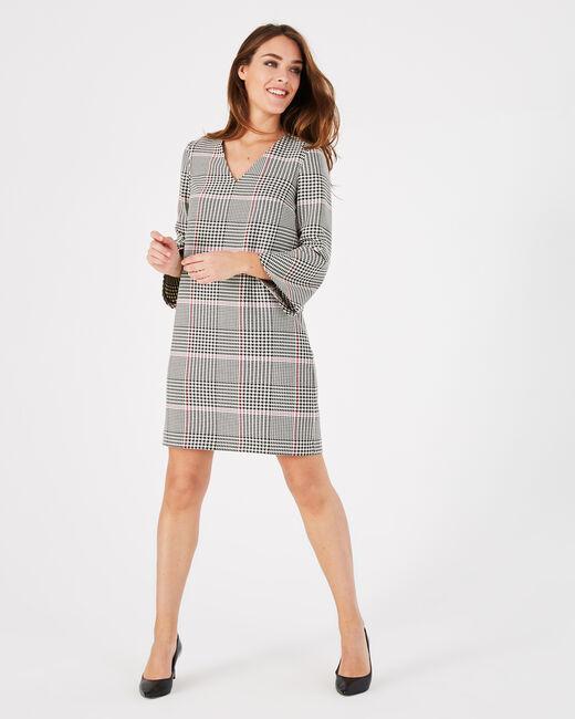 Airelle black check dress (2) - 1-2-3