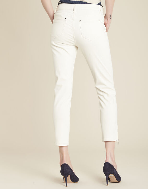 Beige slim fit 7/8-jeans Opera (4) - 37653