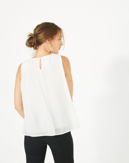 Erica pleated white top (2) - 1-2-3