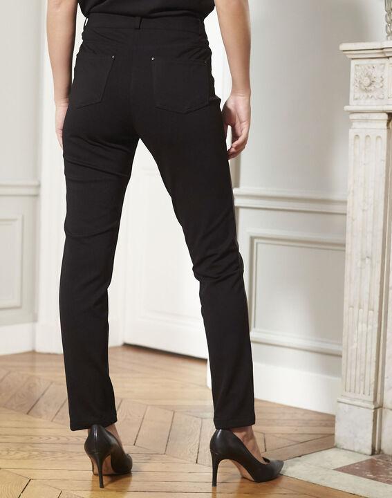 Zwarte slim-fit broek in milano Hectorine (4) - Maison 123
