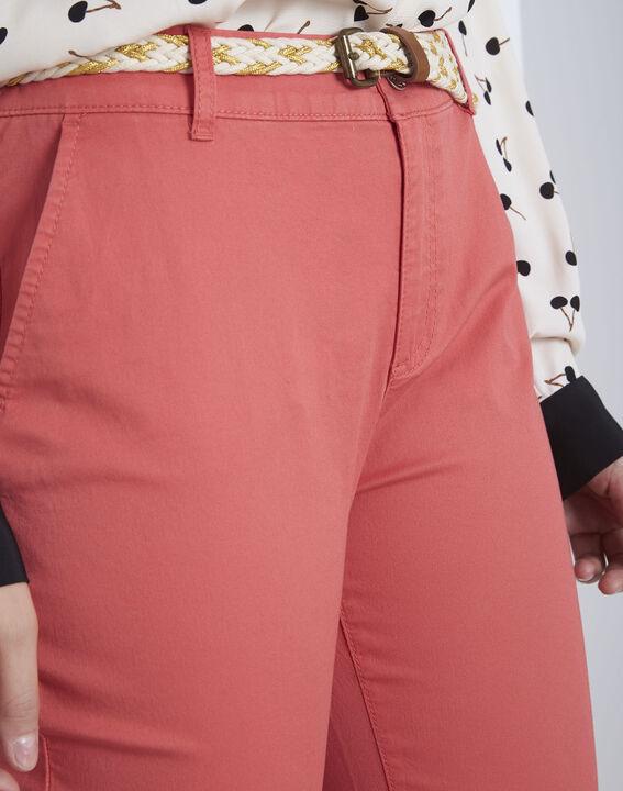 Pantalon corail chino ceinture fantaisie Francis (3) - Maison 123
