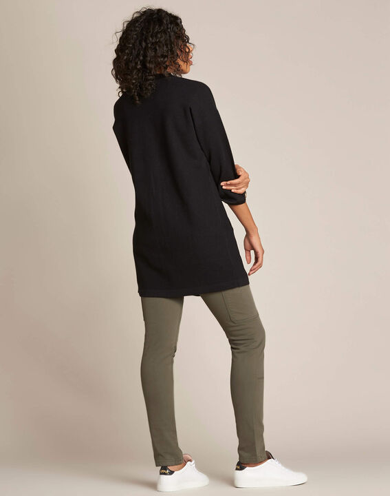 Nelson black cardigan with golden fastening (4) - 1-2-3