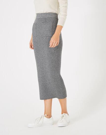 Flume long knitted skirt (1) - 1-2-3