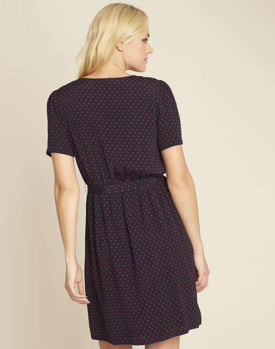 Dany navy blue printed dress (4) - 1-2-3