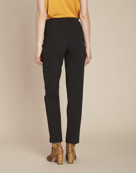 Valero black microfibre cigarette trousers (4) - 1-2-3