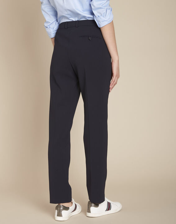 Valero tailored, pleated trousers in navy (4) - 1-2-3