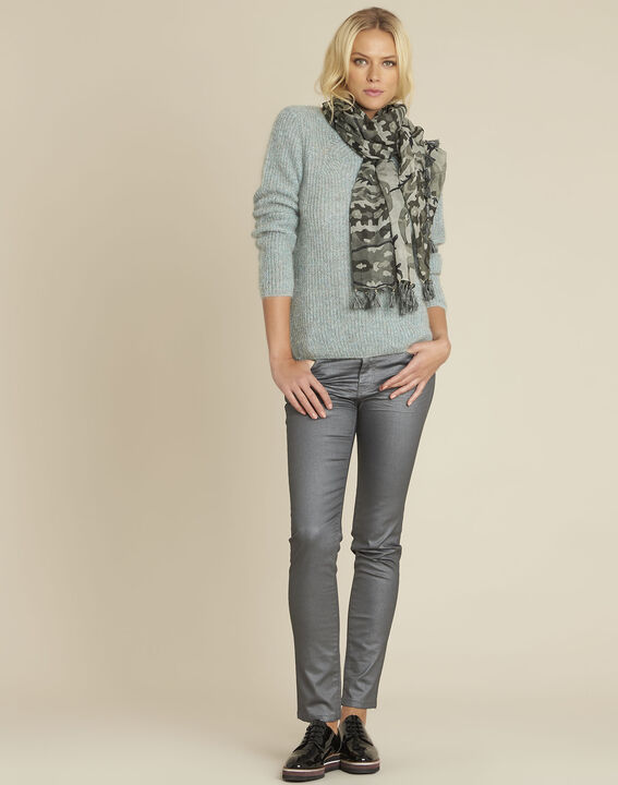 Pull bleu points fantaisie mohair Bello (2) - 37653