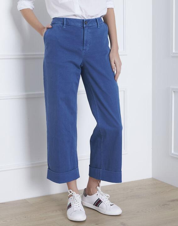 Kurze, ausgestellte Jeans in hellem Indigo-Blau Clara (2) - Maison 123