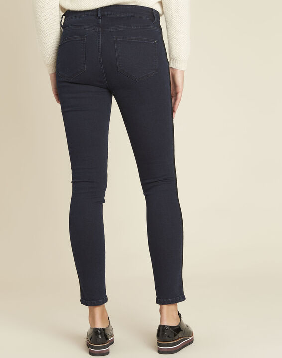 Vendome midnight blue slim-cut jeans with lace strip (4) - 1-2-3