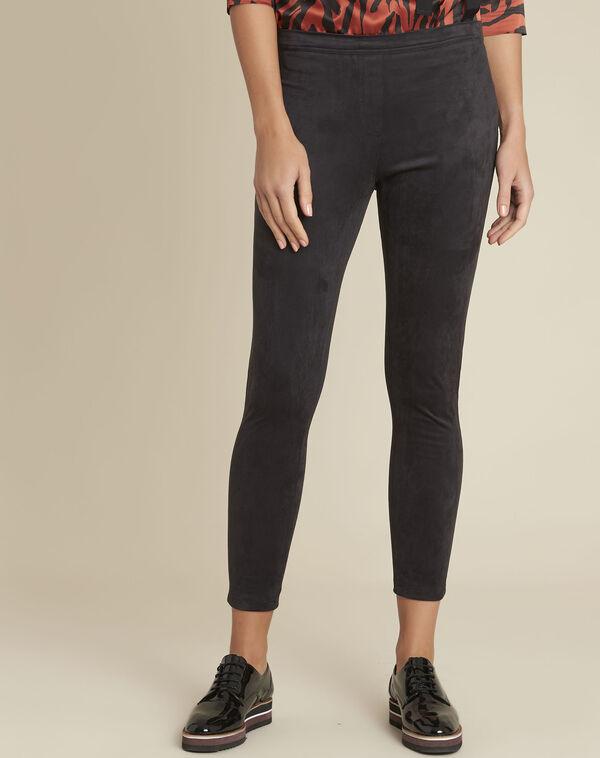 Hens black suedette effect leggings (1) - 1-2-3