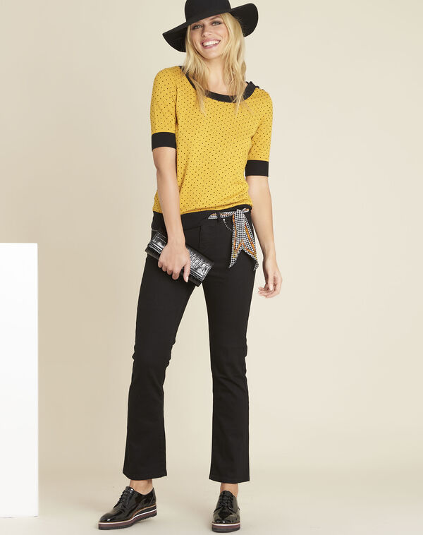 Victor black flared jeans with studded detailing on the pockets (2) - 1-2-3