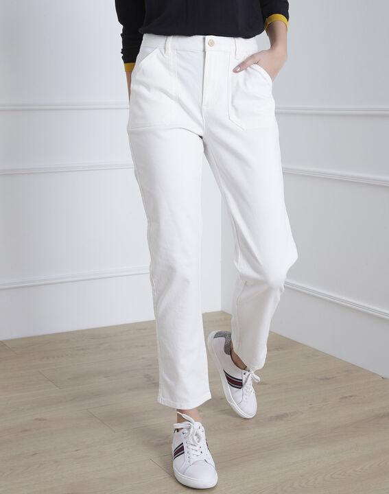 Cremeweiße 7/8 Boyfriend-Jeans Coconut (2) - Maison 123
