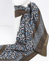 Felin blue leopard print silk square (3) - 1-2-3