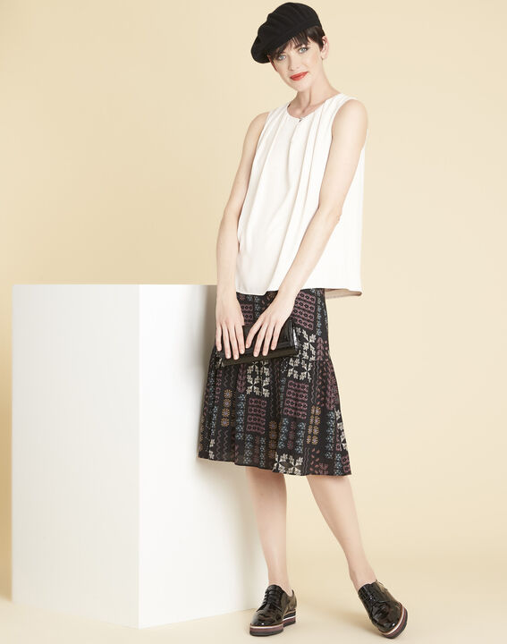 Fanette nude top with jewelled neckline (2) - 1-2-3