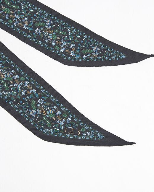 Cravate ceinture en soie imprimé fleuri Fidèle (1) - 1-2-3