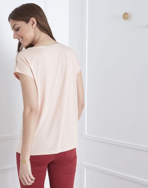 Tee-shirt rose finitions lurex Plume (4) - Maison 123
